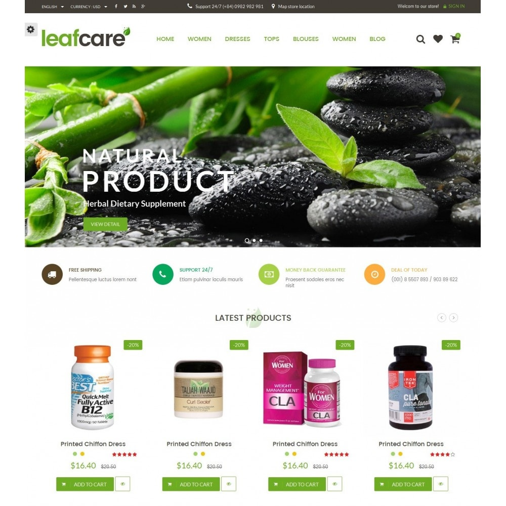 theme - Salute & Bellezza - LeafCare - Bio Medical Store - 2