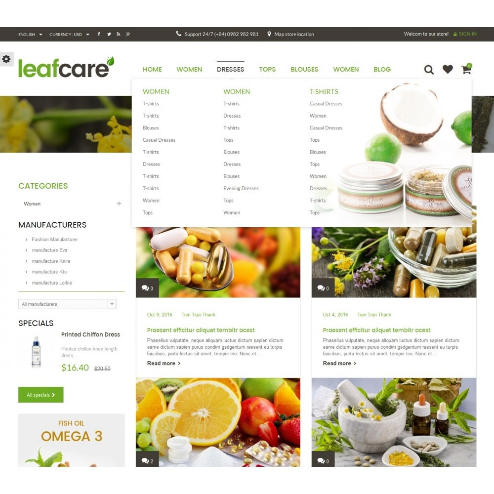 theme - Salute & Bellezza - LeafCare - Bio Medical Store - 10