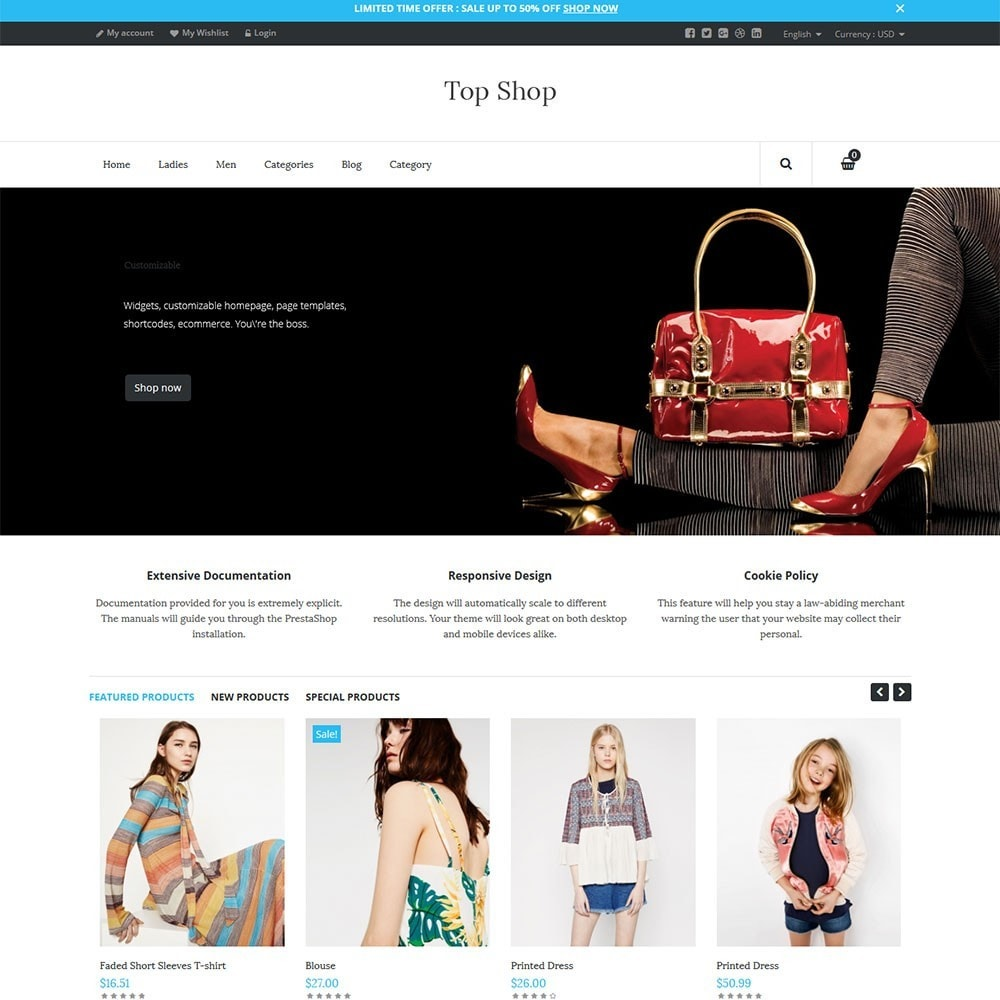 theme - Moda & Calzature - TopShop Fashion Store - 2
