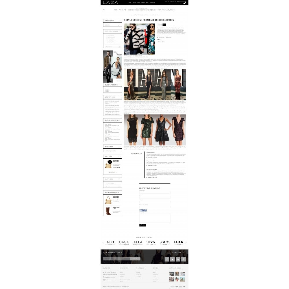 theme - Fashion & Shoes - Laza Fashion Store - 6