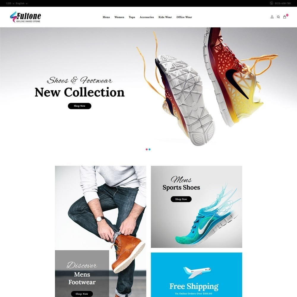 theme - Mode & Chaussures - Fultone - Footwear Store - 2