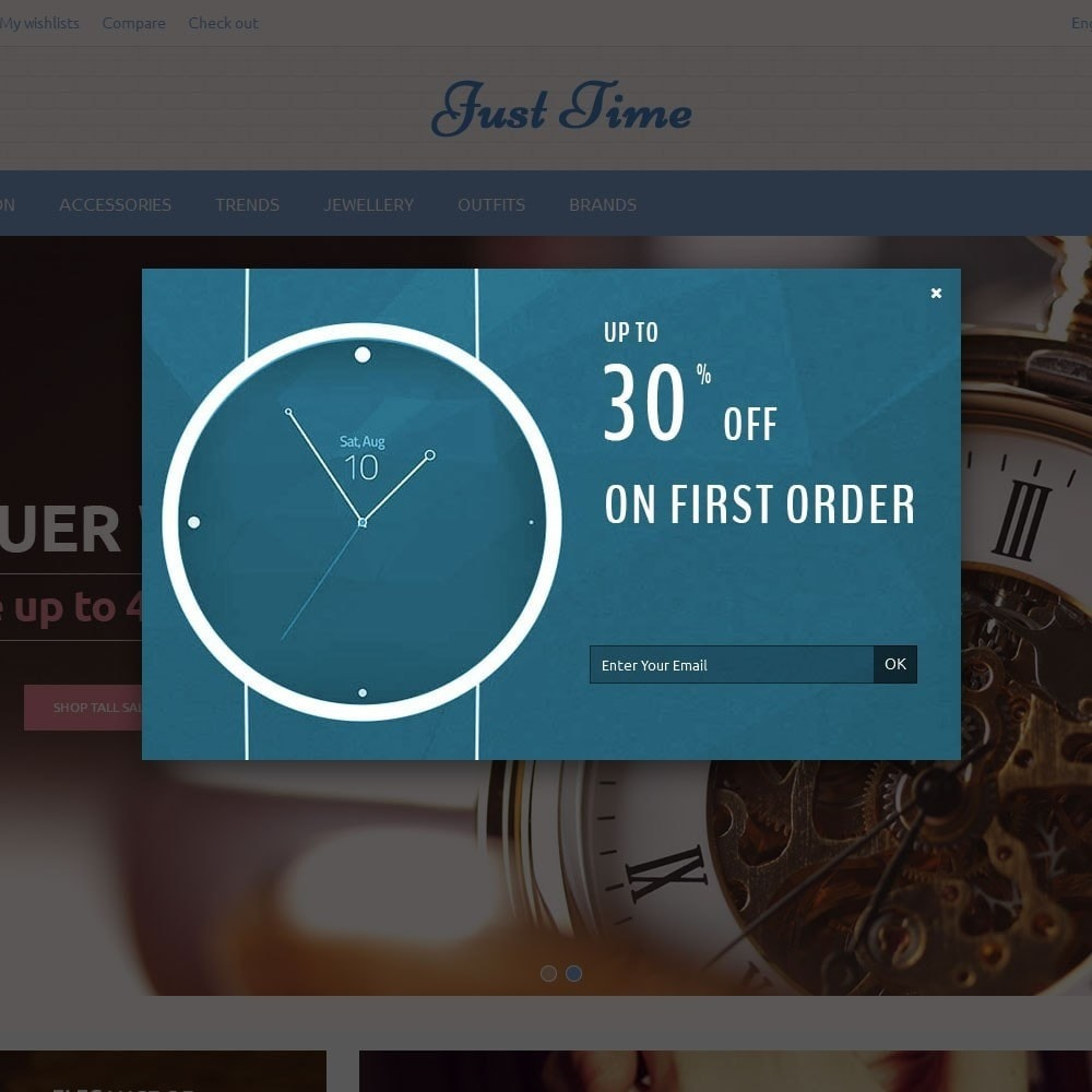 theme - Fashion & Shoes - Just Time Watch Store - 6