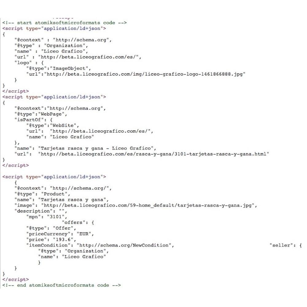 module - SEO (Posicionamiento en buscadores) - Microformatos Google Rich Cards en LD+JSON - 2