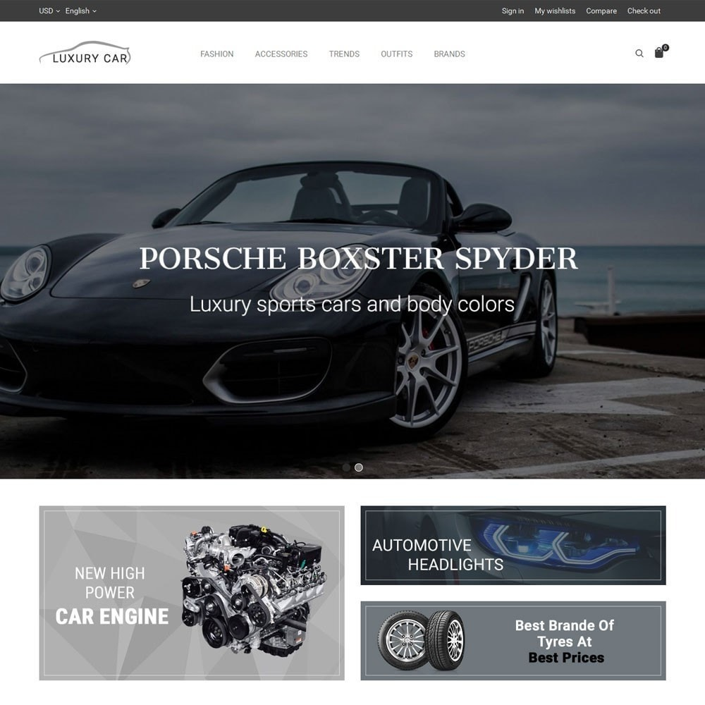 theme - Carros & Motos - Luxury Car Store - 2
