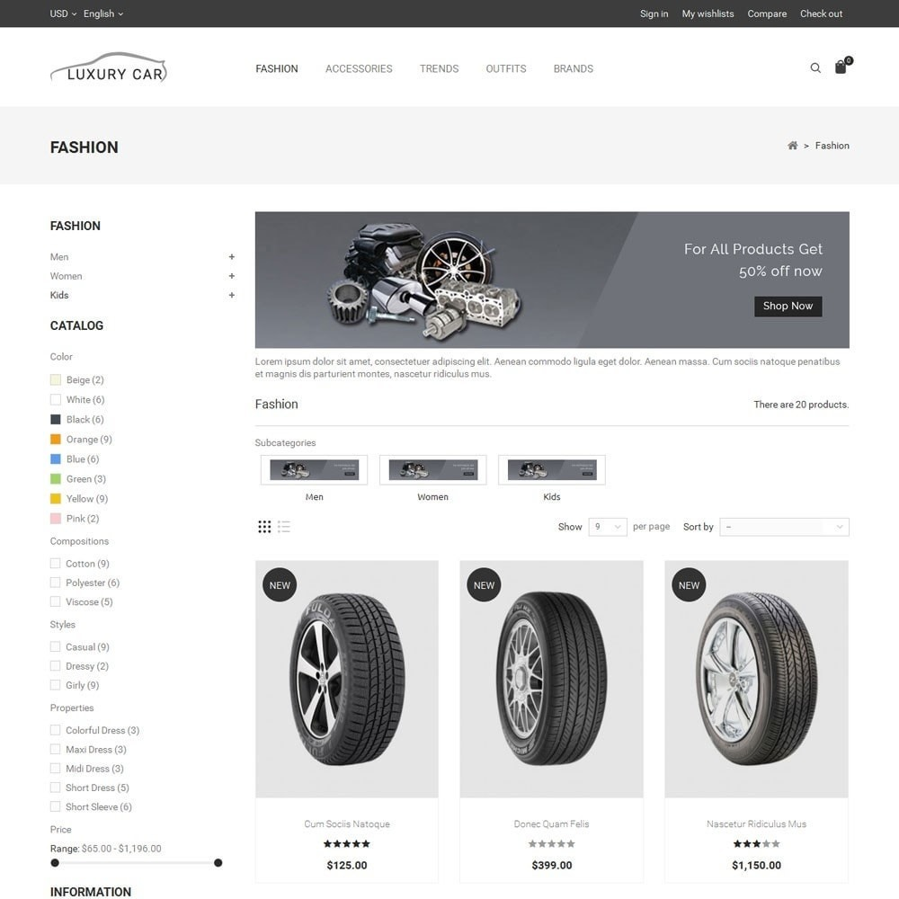 theme - Carros & Motos - Luxury Car Store - 3