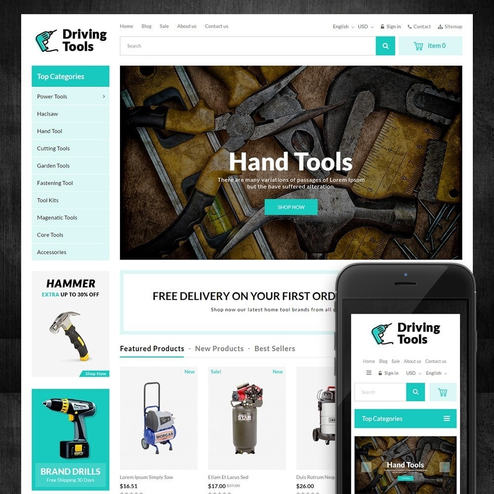 theme - Auto & Moto - Driving Tools Store - 1