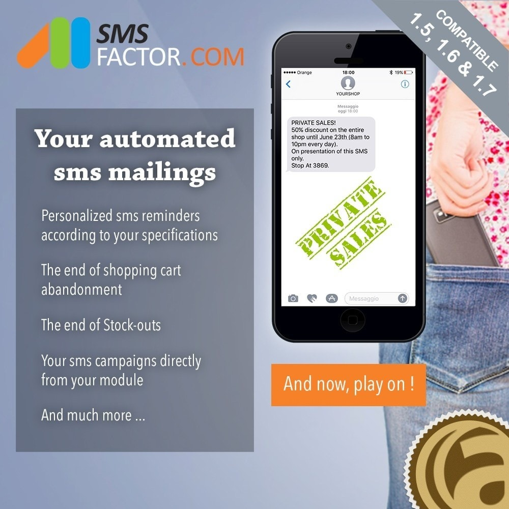 module - Remarketing & Shopping Cart Abandonment - Automated sms mailings - 1