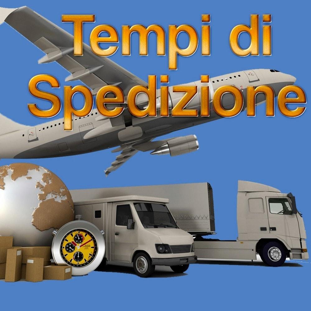 module - Data di Consegna - Tempi Spedizione per Categoria/Produttore/Fornitore - 1