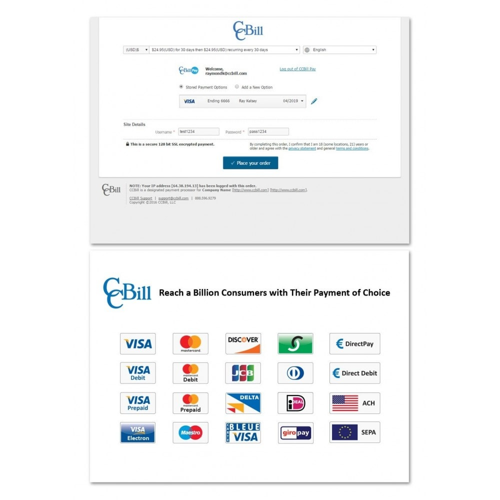 module - Payment by Card or Wallet - CCBill USA, Canada, U.K. & EU - 2