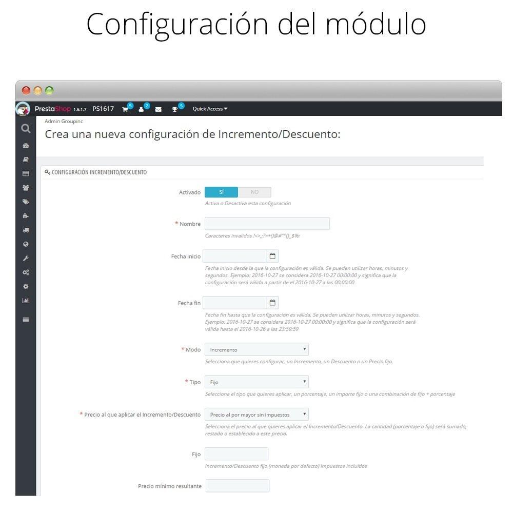 module - Promociones y Regalos - Incremento/Descuento de precio por grupo, categoría... - 2