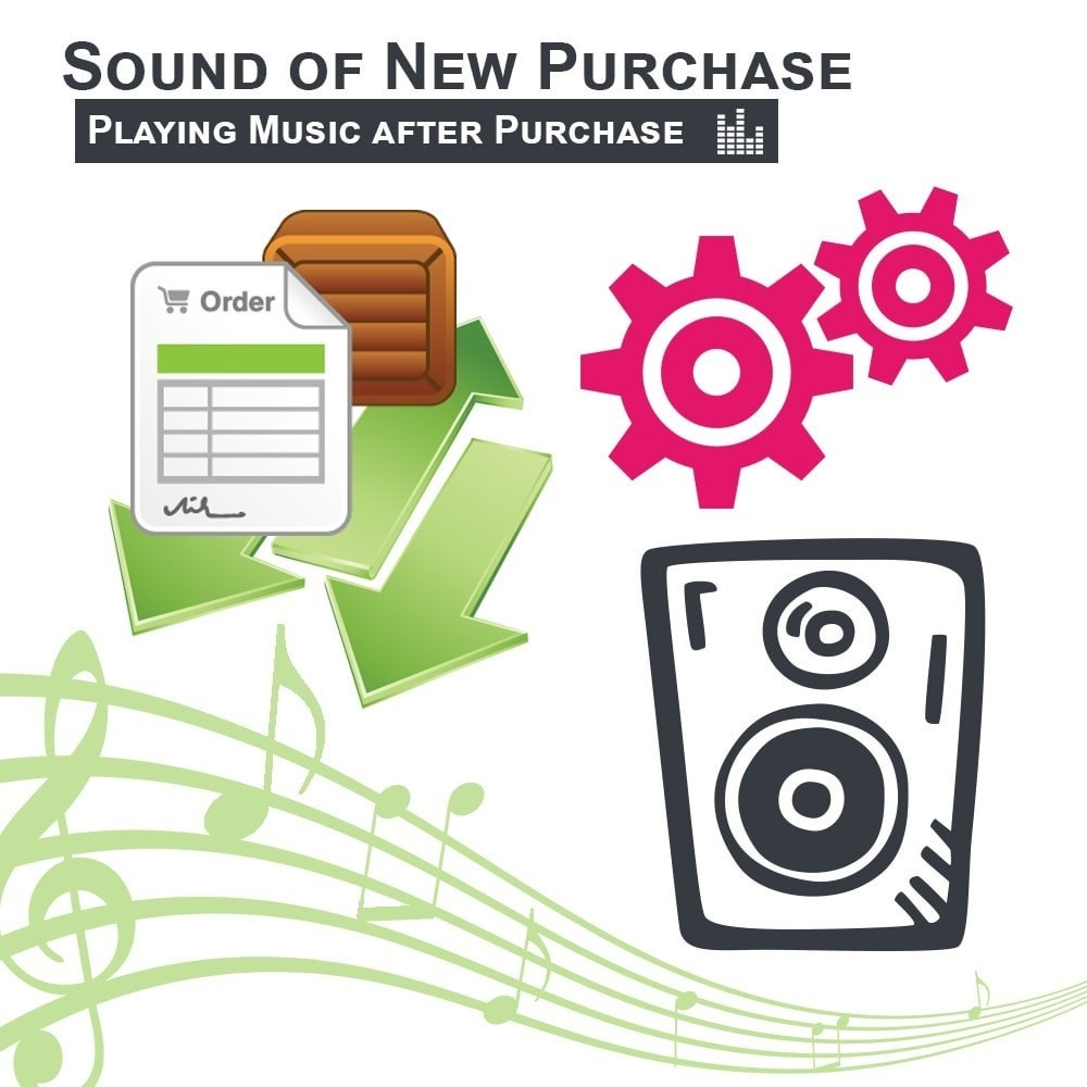 module - Zarządzanie zamówieniami - Sound of New Purchase Playing Music after Purchase - 1