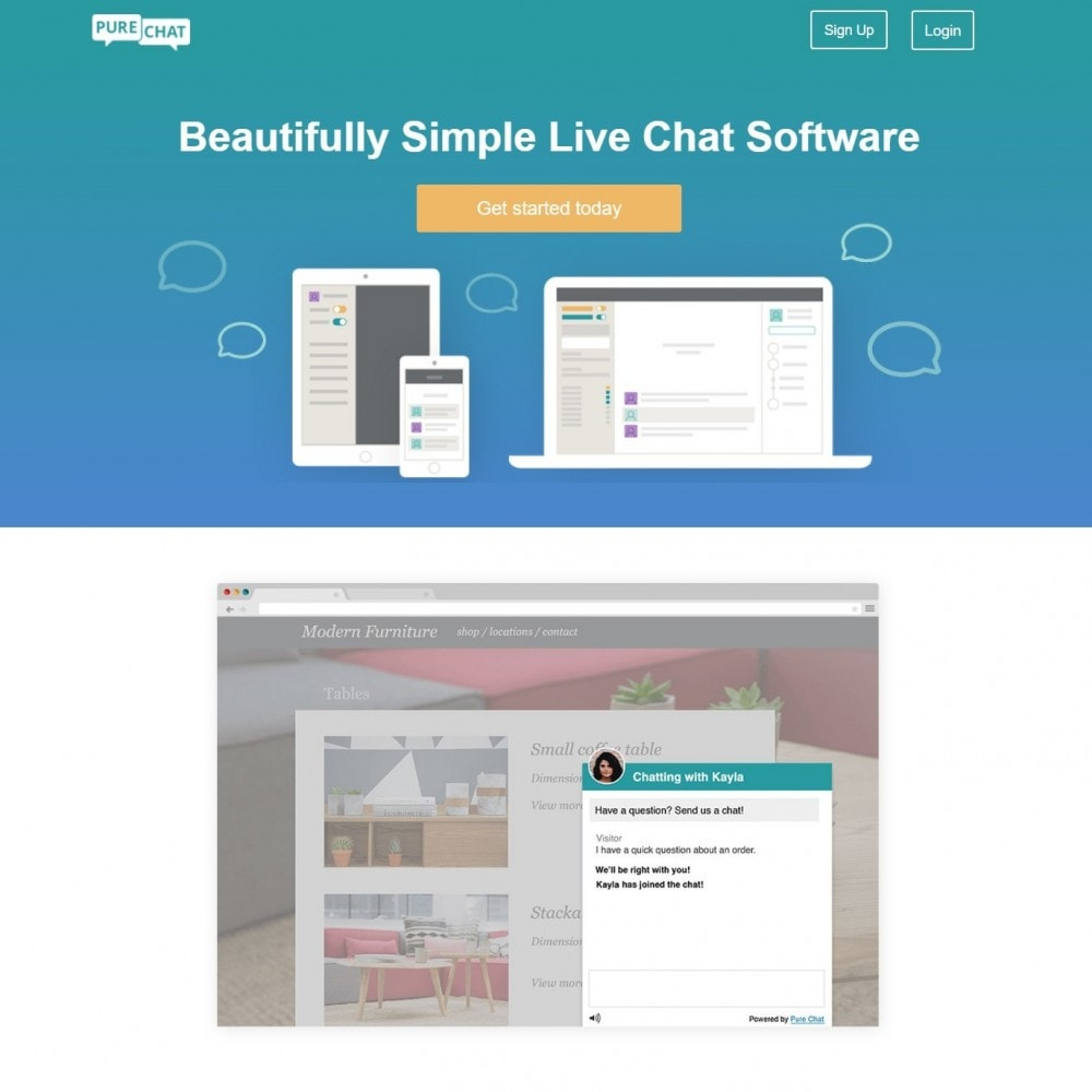 module - Support & Online-Chat - Purechat - Free Live Chat and Website Visitor Tracking - 2