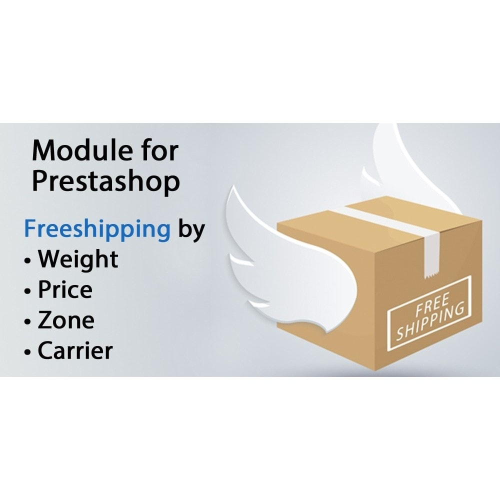 module - Frais de port - Freeshipping,free shipping by weight,price,carrier,zone - 1
