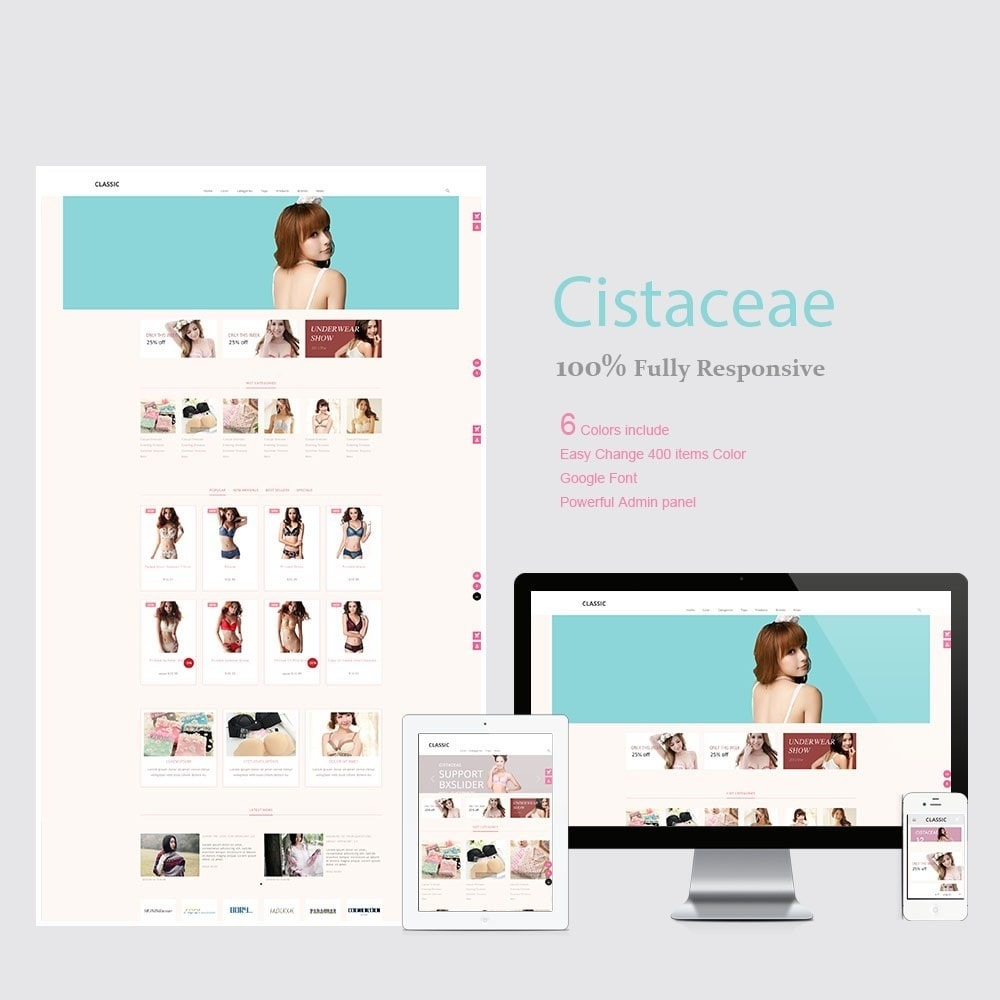 theme - Fashion & Shoes - Cistaceae Fashion Store - 1