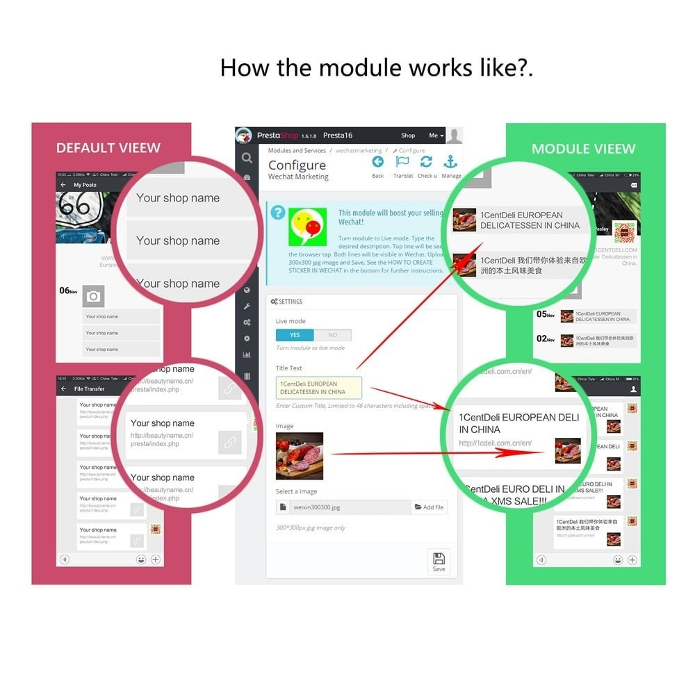 module - Products on Facebook & Social Networks - Wechat Marketing - 2
