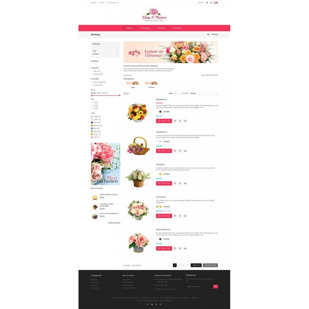 theme - PrestaShop Szablony - Bloom Flower Store - 4