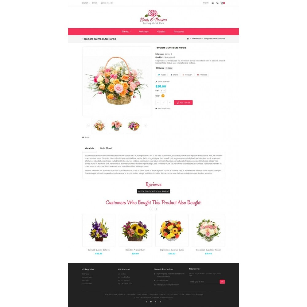 theme - PrestaShop Szablony - Bloom Flower Store - 5