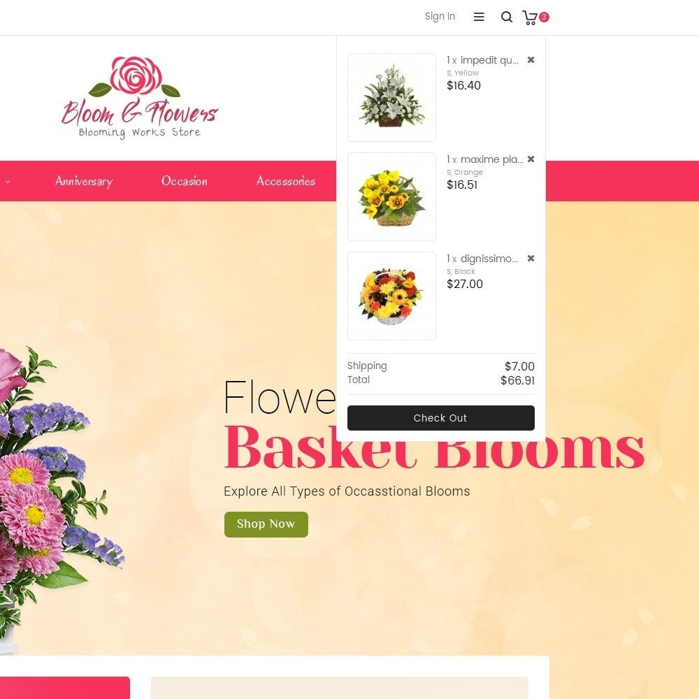 theme - PrestaShop Themen - Bloom Flower Store - 9