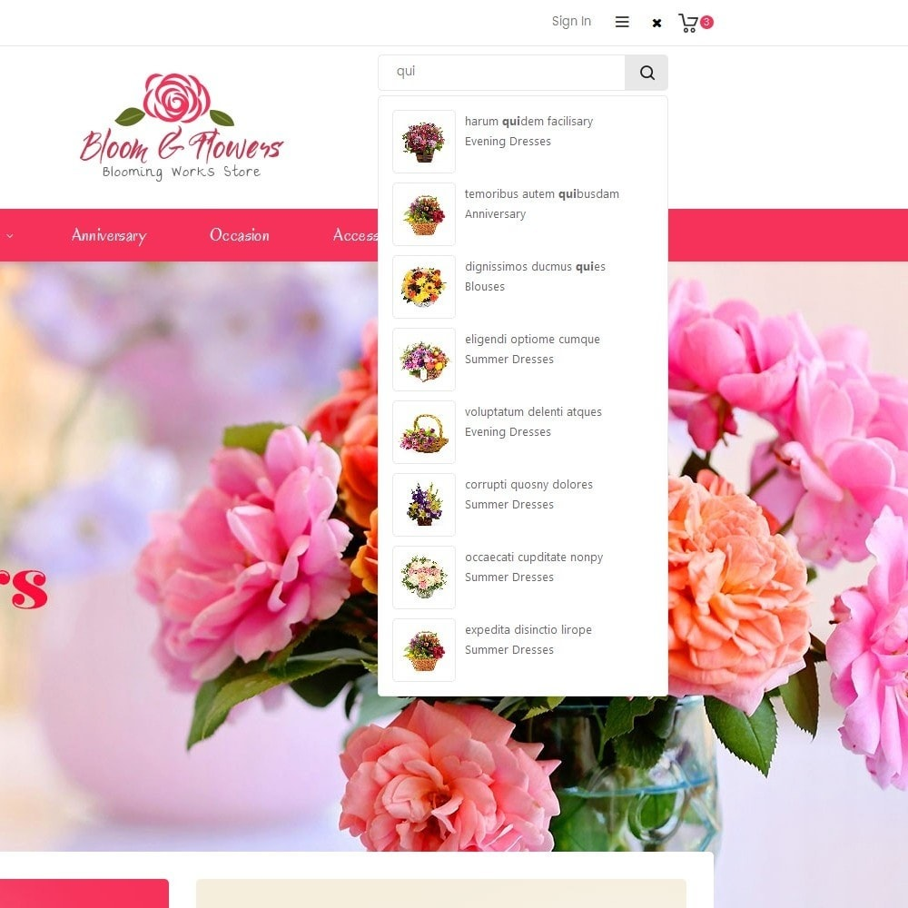 theme - PrestaShop Szablony - Bloom Flower Store - 10