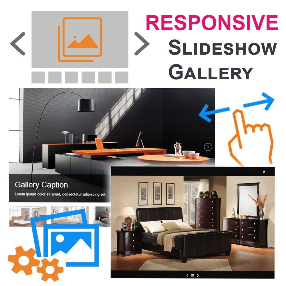 module - Sliders & Galeries - Responsive Images Photo Gallery with thumbnails - 1