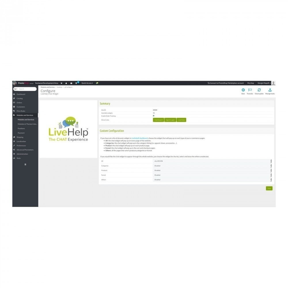 module - Supporto & Chat online - LiveHelp® Live Chat - 3