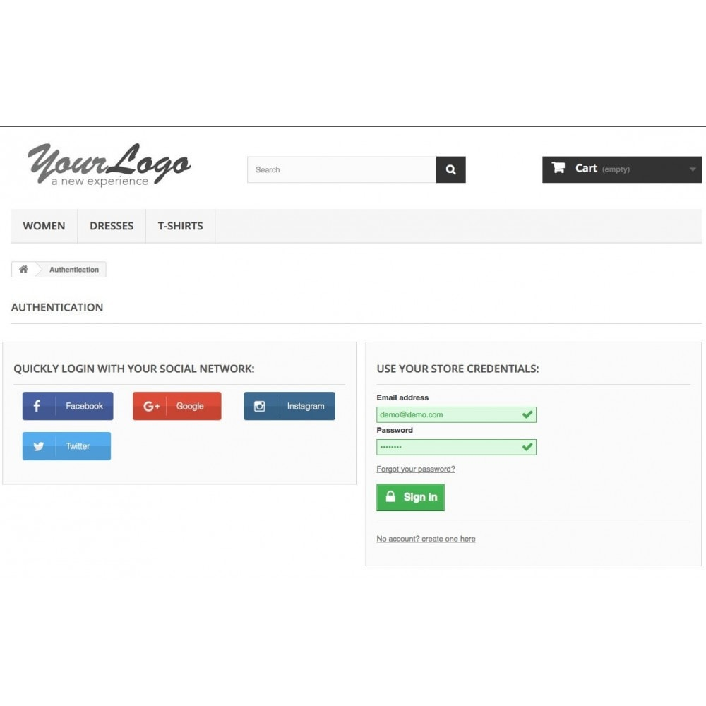 module - Przyciski do logowania  & Connect - Social Login Authentication - 3