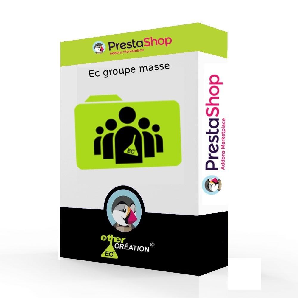 module - Fidélisation & Parrainage - Edition en masse des groupes clients et export - 1