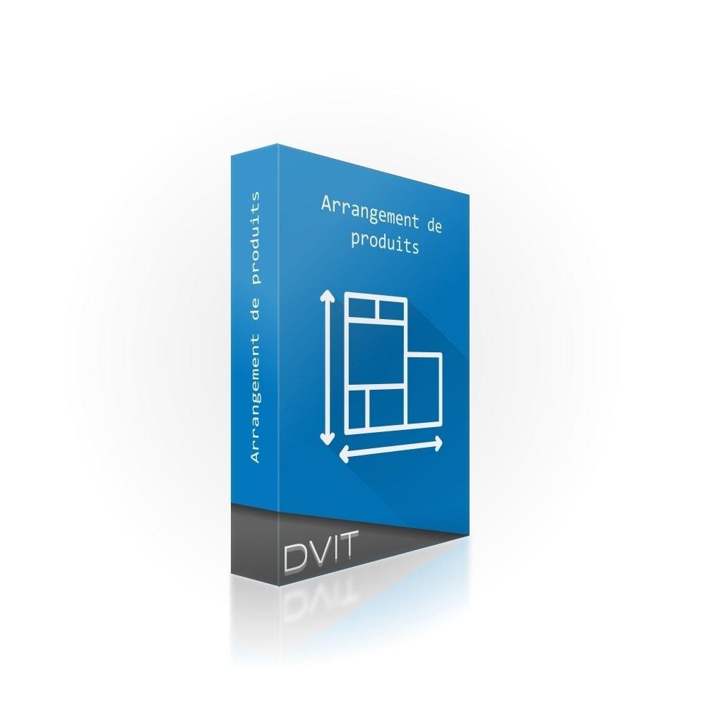 module - Personnalisation de Page - Arrangement de produits - 1