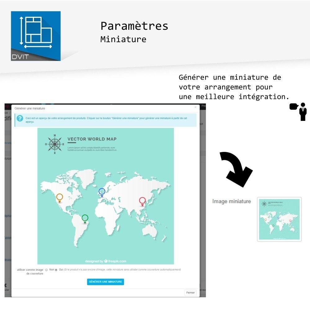 module - Personnalisation de Page - Arrangement de produits - 5