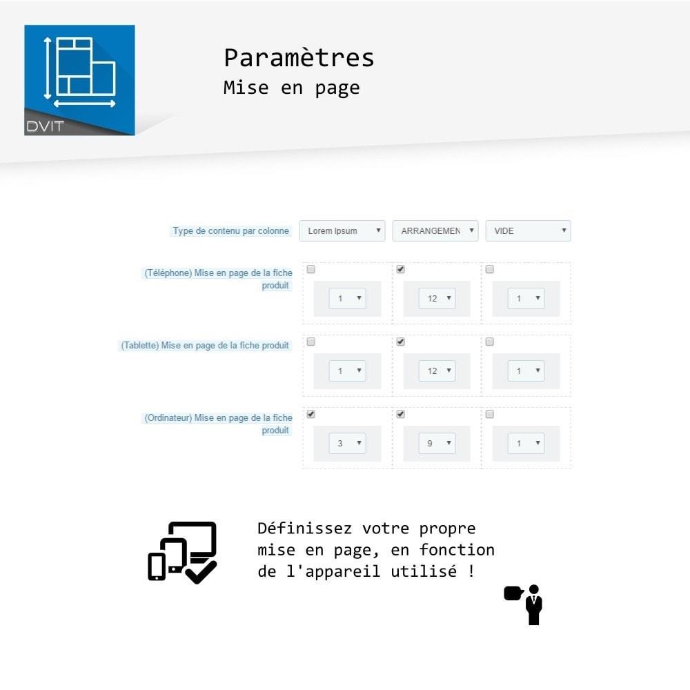 module - Personnalisation de Page - Arrangement de produits - 6