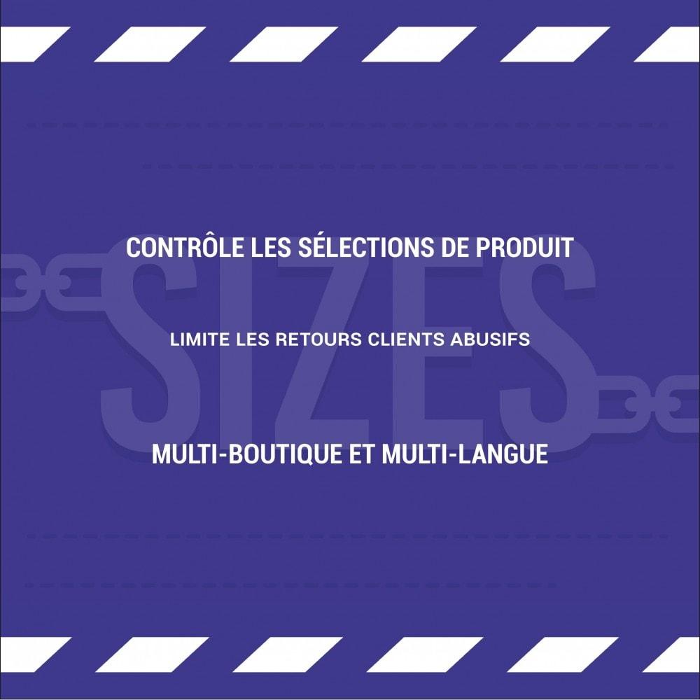 module - Déclinaisons & Personnalisation de produits - Limite de déclinaison par produit - 3