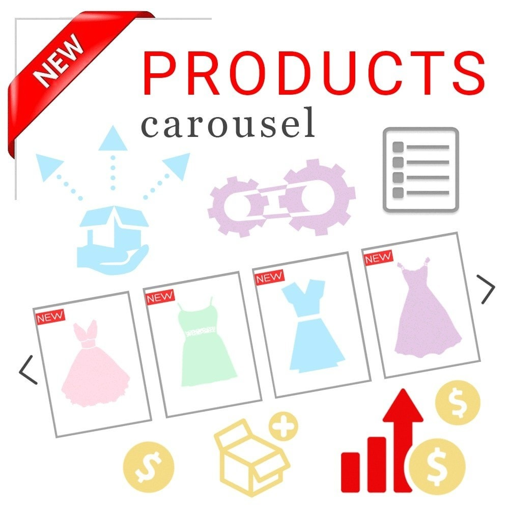 module - Silder & Gallerien - Responsive Carousel with New Products - 1