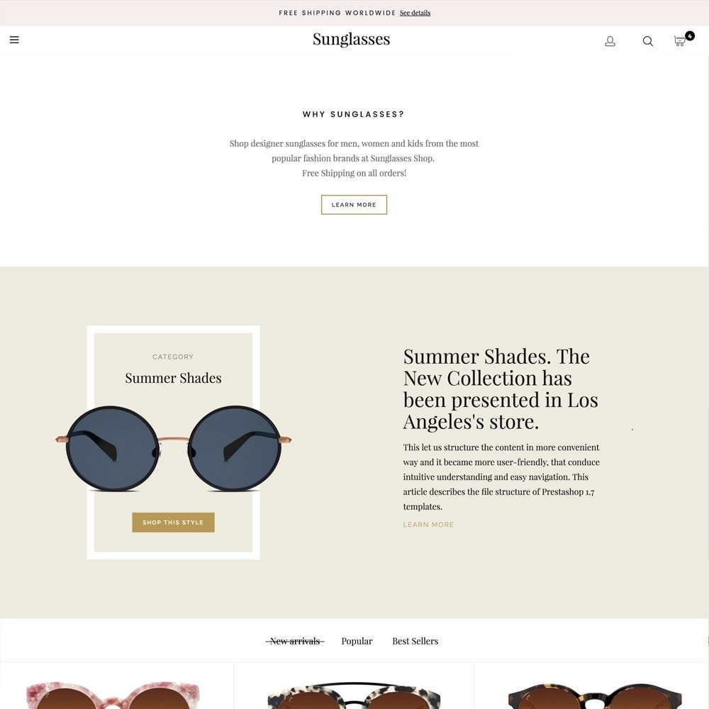 theme - Fashion & Shoes - Sunglasses - 3