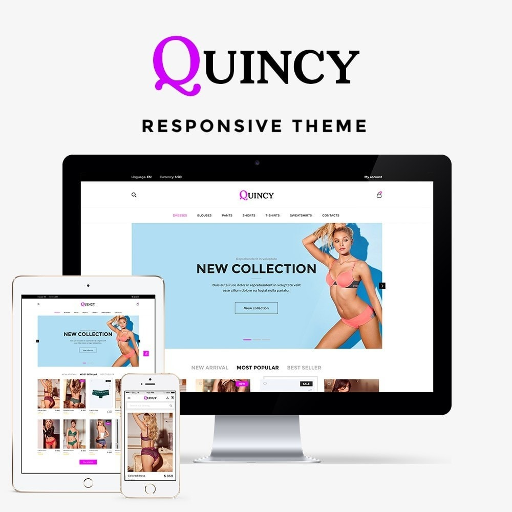 theme - Lingerie & Adulte - Quincy Shop - 1