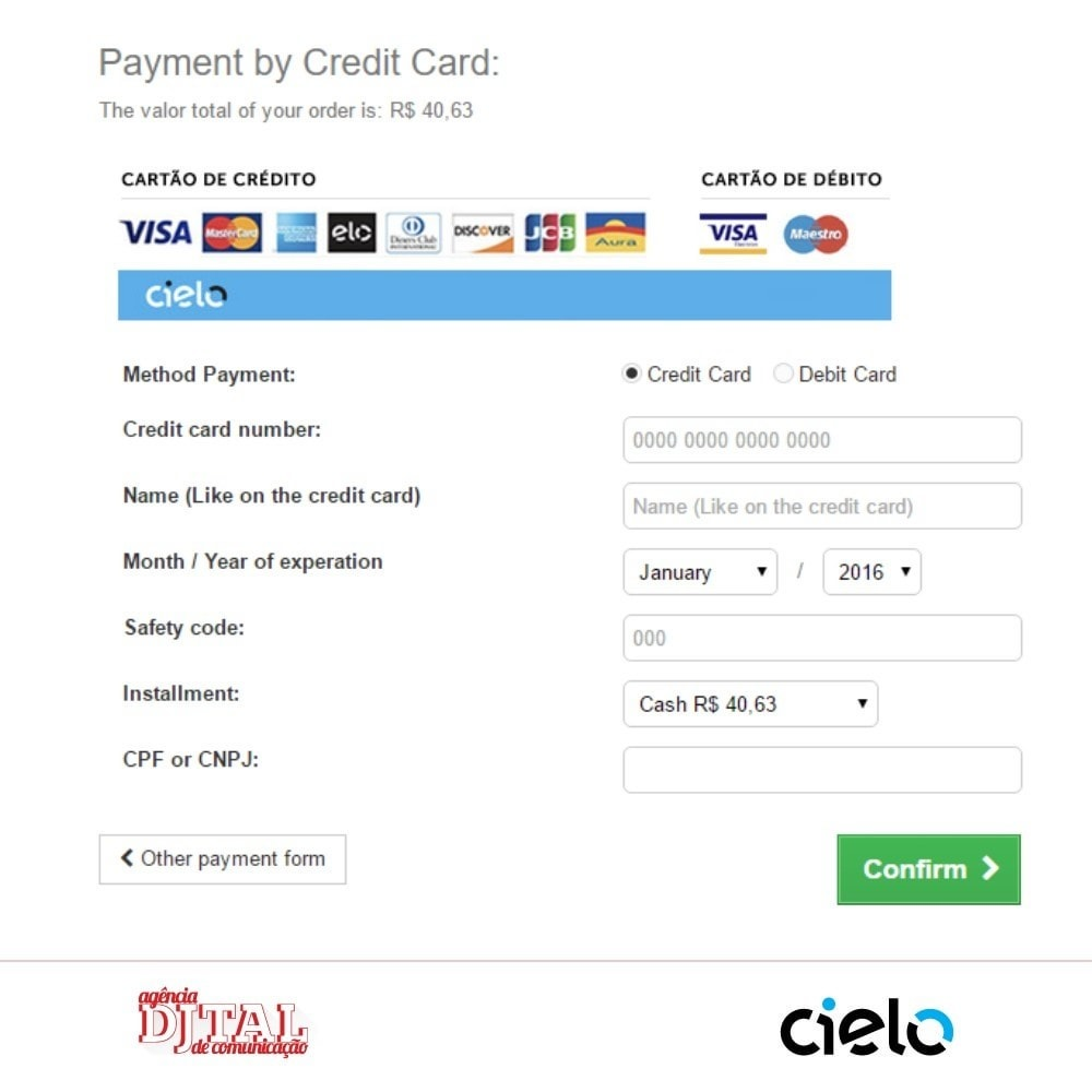 module - Payment by Card or Wallet - Checkout Cielo - 5