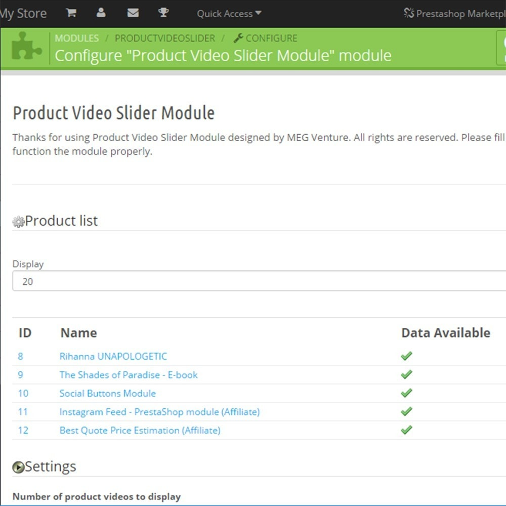 module - Videos & Musik - Product Video Slider / Video Gallery - 4