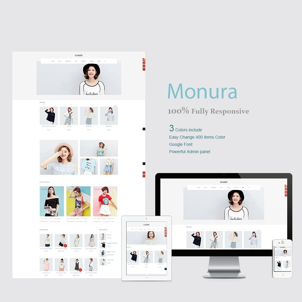 theme - Fashion & Shoes - Monura Clothing Store - 1