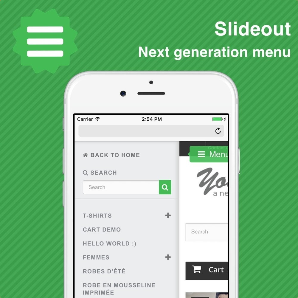 module - Menú - Slideout • Mobile menu - 1