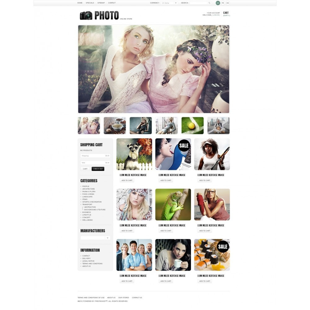 theme - PrestaShop Szablony - Art & Photo Gallery - 7