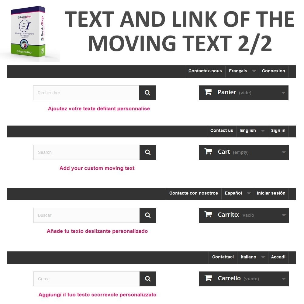module - Bloki, Zakładki & Banery - Moving / Scrolling Text for Header - 8