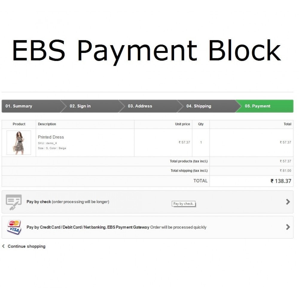 module - Payment by Card or Wallet - EBS Payment Gateway India - 2