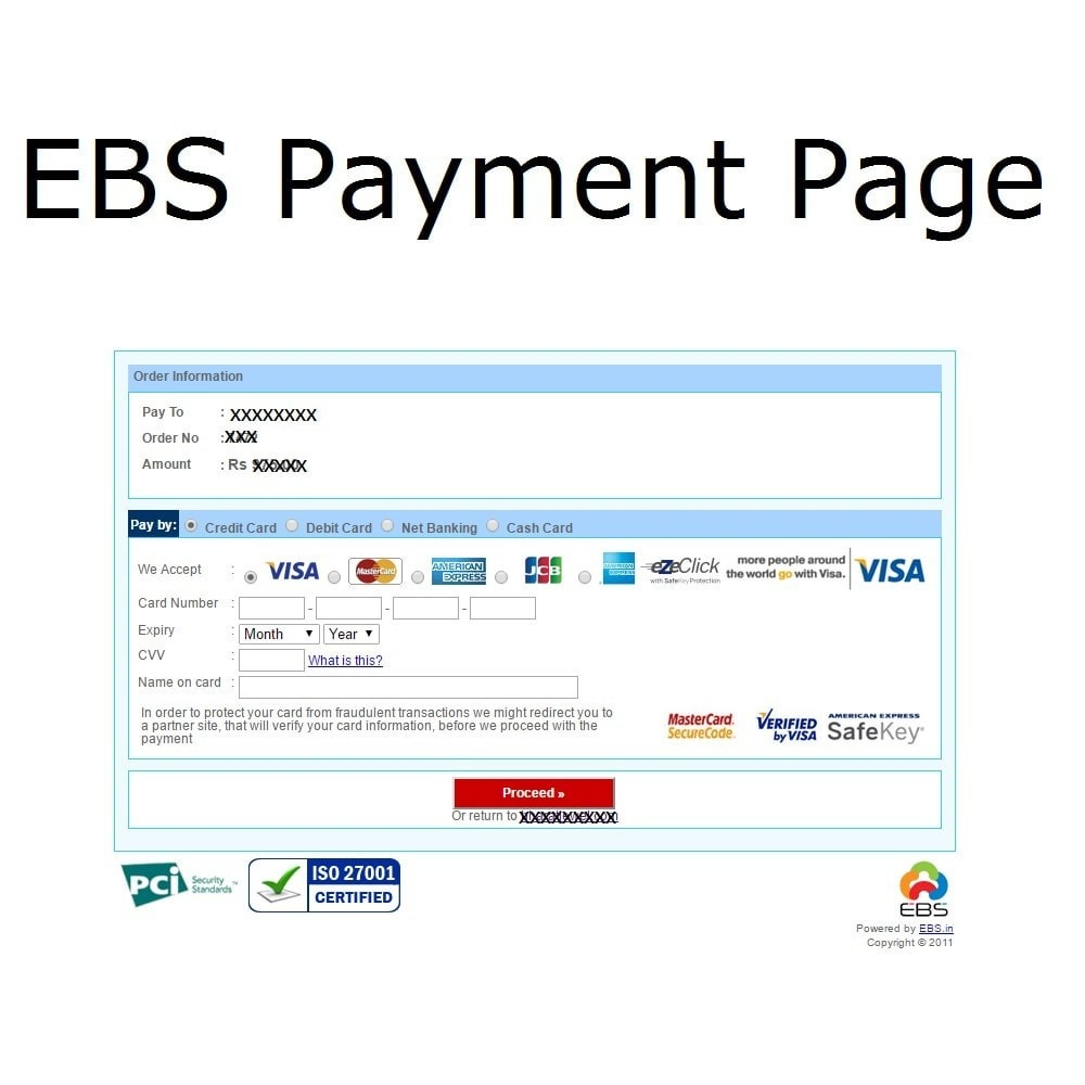 module - Payment by Card or Wallet - EBS Payment Gateway India - 3