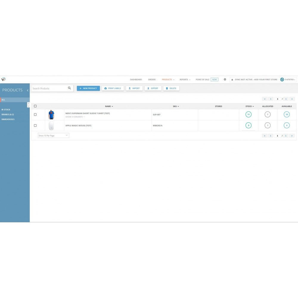 module - Gestion des Stocks & des Fournisseurs - Veeqo Integrator - 3
