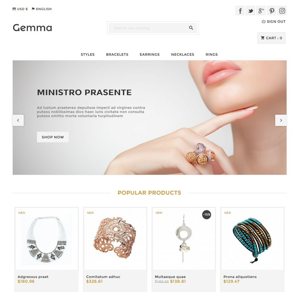 theme - Jewelry & Accessories - Gemma - 1