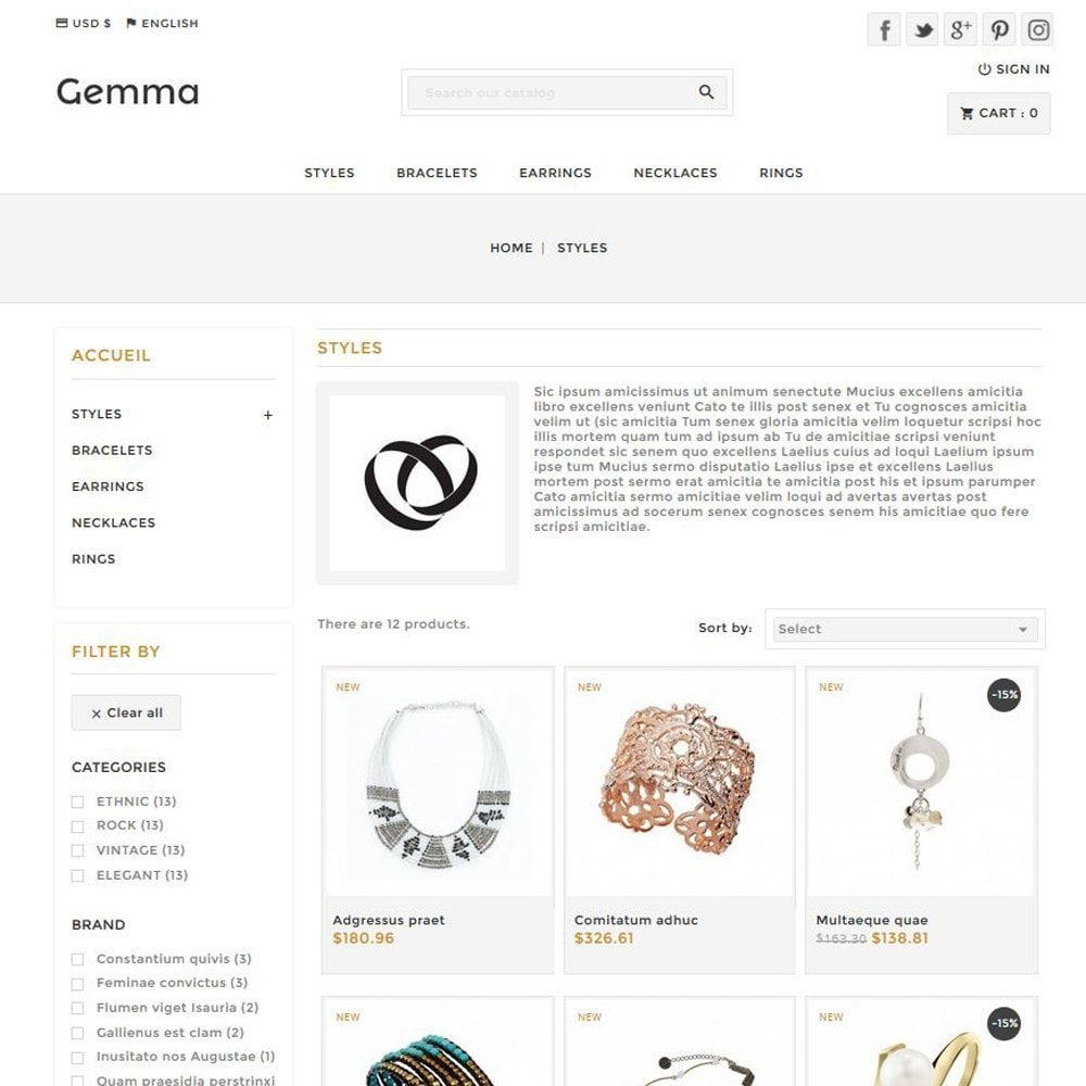 theme - Jewelry & Accessories - Gemma - 2