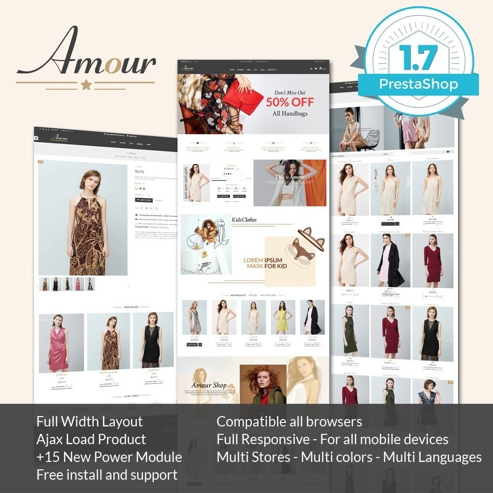 theme - Мода и обувь - Amour Fashion Store - 1