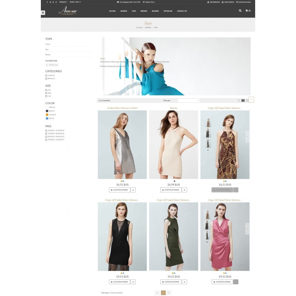 theme - Мода и обувь - Amour Fashion Store - 4