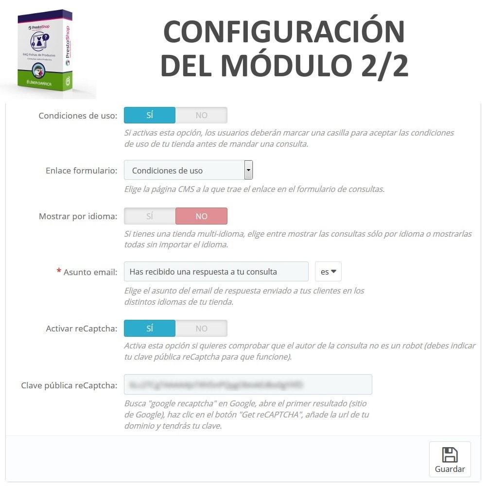 module - Preguntas Frecuentes - FAQ Fichas de Productos -  Preguntas frecuentes - 3