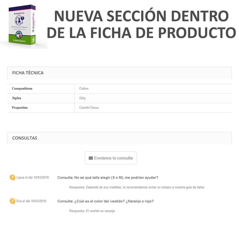 module - Preguntas Frecuentes - FAQ Fichas de Productos -  Preguntas frecuentes - 5