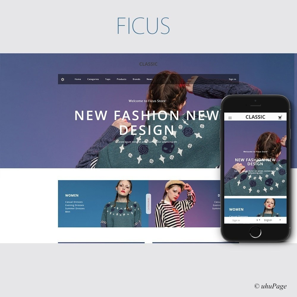 theme - Mode & Schuhe - Ficus Clothing Store - 1